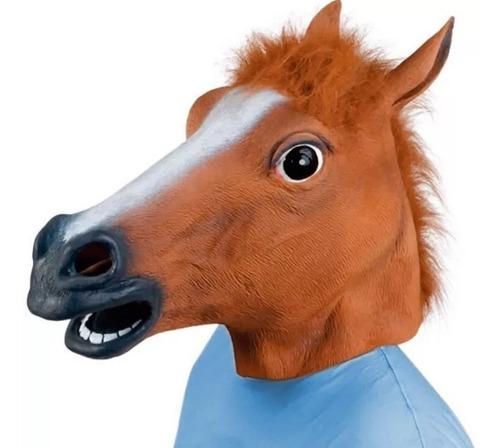 Máscara De Cavalo Látex Cosplay Festa Fantasia