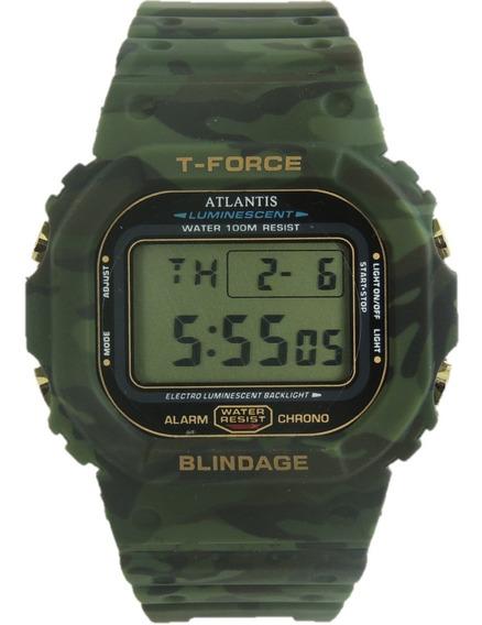 Relógio Masculino Atlantis 7305 Camuflado Digital Com Caixa