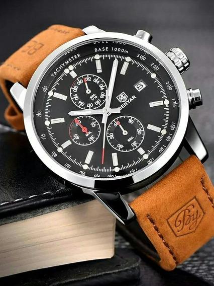 Relógio Masculino Benyar Jaragua Marca De Luxo Original