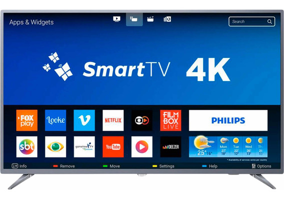 Smart Tv Led 50 Philips 4k 50pug6513/78