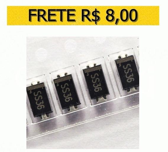 Diodo Ss36 Do-214ac 3a/60v Smd Schottky - Lote 10 Unidades