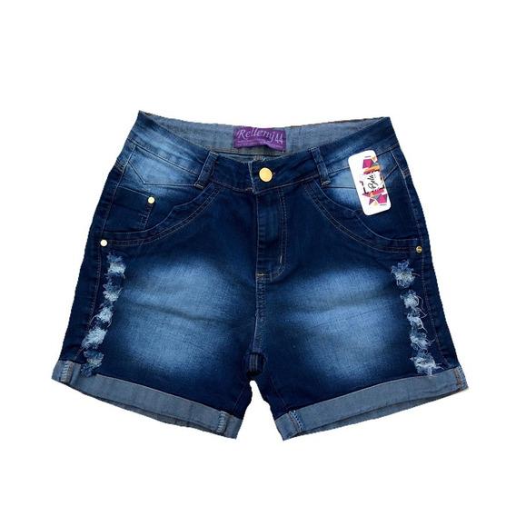 Short Jeans Feminino Plus Size Com Lycra 44/54