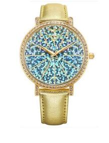 Relógio Feminino Dourado À Prova D
