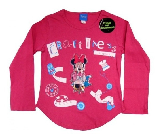 Playera Infantil Minnie Mouse Con Luces En Movimiento Origin