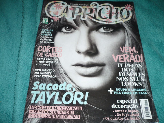 Revista Capricho Taylor Swift Capa Reportagem Poster Out/14