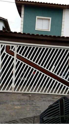 Imagem 1 de 20 de Sobrado À Venda - 3 Quartos - 2 Vagas - Jardim Cambuí - Santo André/sp - 44185