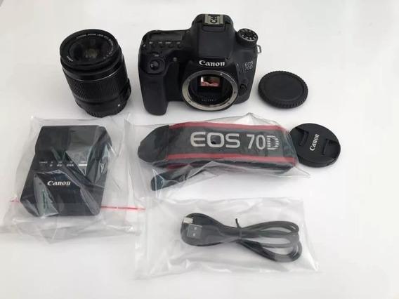 Câmera Canon 70d + 18-55 Usm + 35mm F2 Yn + Flash Yn565ex