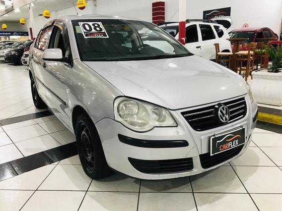 Volkswagen Polo 1.6 Mi Total Flex 8v 5p Prata 2008 Completo