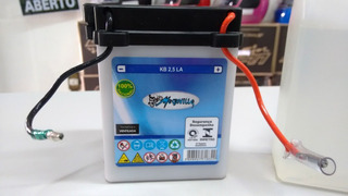 Bateria C100 Biz Cg Até 2000 Fs Ml Turuna 125 2,5ah Kb2,5la