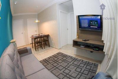 Apartamento 2 Dormitórios Para Locação, 48m², Condomínio Spazio Sardegna, Vila Jardini Em Sorocaba/sp - Ap0857