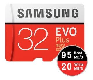 Cartão De Memória Micro Sd Sdxc Samsung Evo 32gb 100mb/s U3