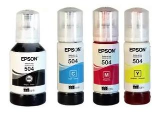 Combo Botellas De Tintas Original Epson 504 L4150 L4160