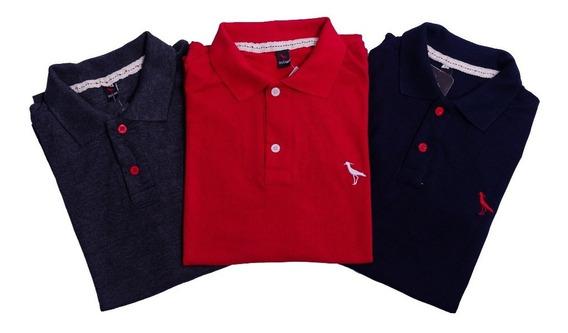 Kit 10 Camisetas Polo Masculina 100% Original Com Nf Full
