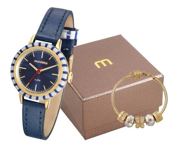 Kit Relógio Feminino Mondaine 89004lpmvdh1k1