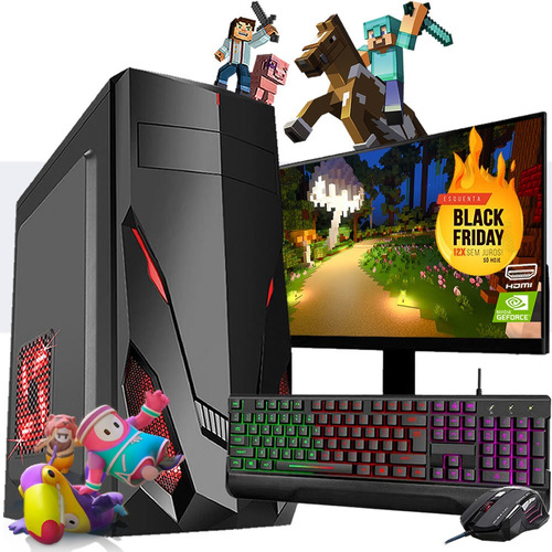 Pc Gamer Completo I3 8gb Hd 500 Placa De Video Monitor