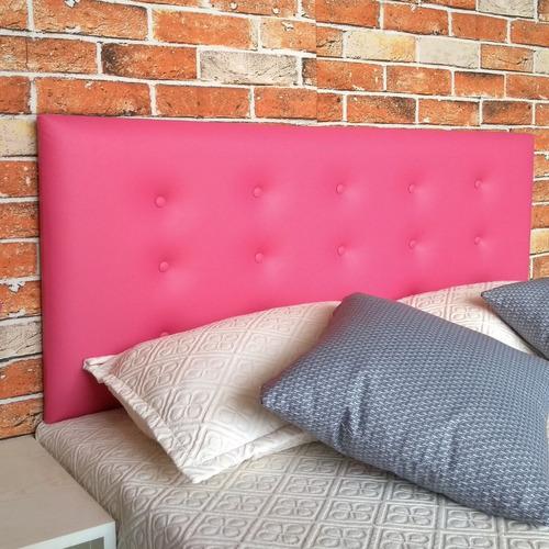 Imagem 1 de 10 de Cabeceira Box Cama Casal Botone 15 Corino Rosa Frete Gratis*