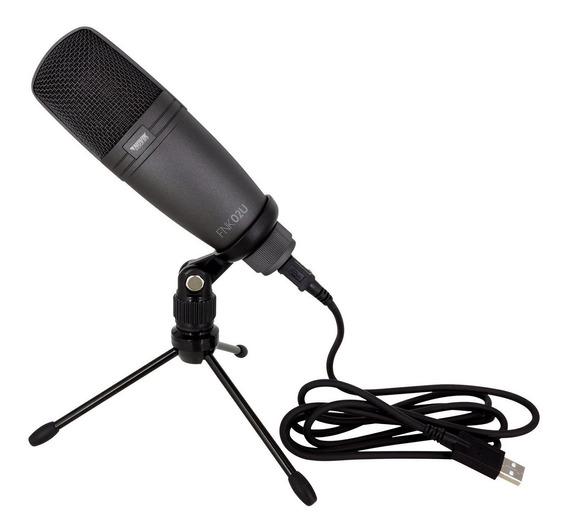 Microfone Condensador Usb Studio Novik Fnk 02u Youtuber + Nf