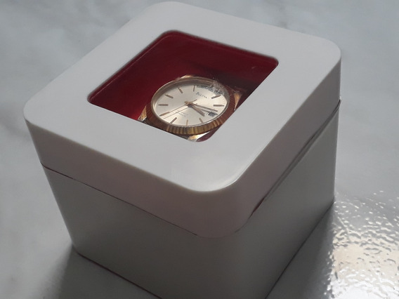 Relógio Folheado À Ouro Bulova T3 Jewels Presidente
