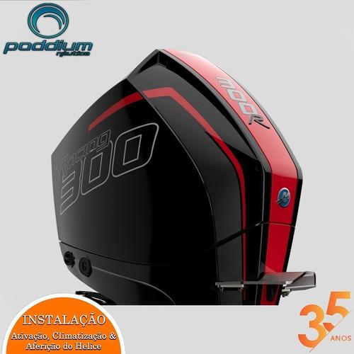 Motor De Popa Mercury 300 Hp L 4t Racing + Frete E/t Poddium