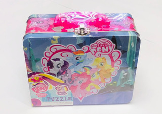 My Little Pony Lonchera Metalica Con Rompecabezas