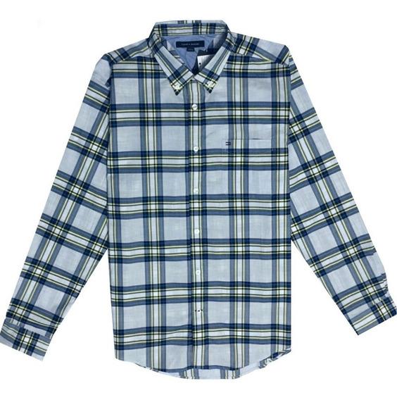 Camisa Tommy Hilfiger Hombre Manga Larga Talla L