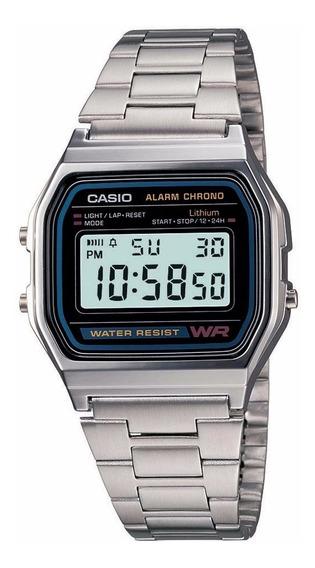 Relógio Casio Unissex Vintage A158wa 1df Prata Digital