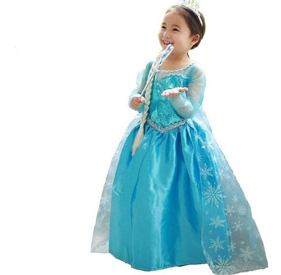 Vestido Frozen Infantil Vestidos Para Meninas Com O