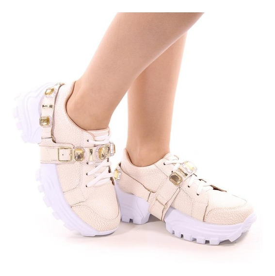 Tênis Sneaker Plataforma Feminino Luvia Calçados