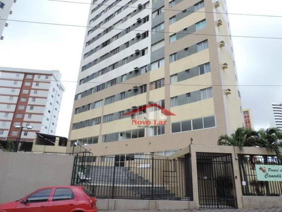 Apartamento Com 3 Dormitórios À Venda, 61 M² Por R$ 350.000 - Fátima - Fortaleza/ce - Ap0621