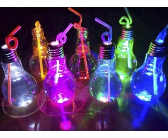 75 Vasos Luminosos Lampara Drinky Led + Sorbetes De Neón