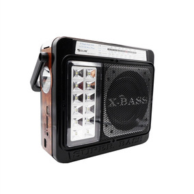 Radio Com Bluetooth Usb Sd Am Fm 4 Banda Lanterna Estilo Mdf