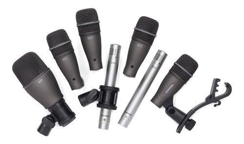 Imagen 1 de 8 de Set Microfonos Bateria Samson Dk707 7 Microfonos + Clamp