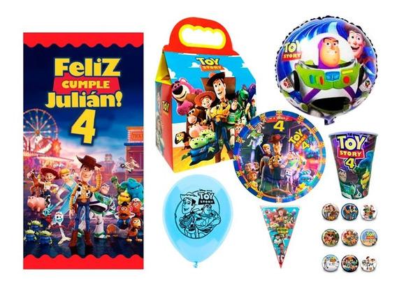 Toy Story Kit De Fiesta 20 Niños Dulceros Platos Fiesta
