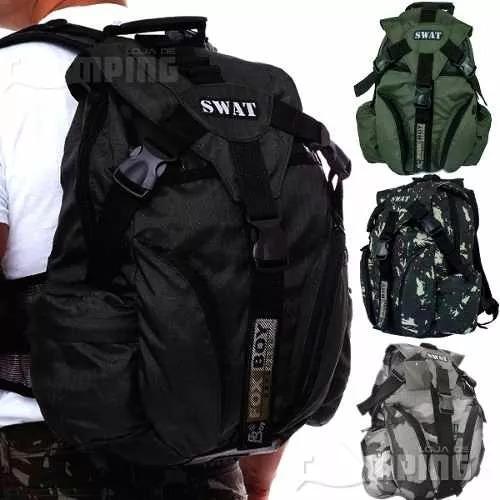 Mochila Swat - 30 Lts / Tatica / Militar / Ripstop