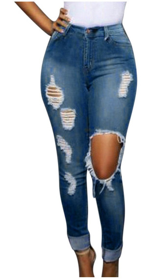 Pantalon De Mezclilla Sin Botones Mujer Mercadolibre Com Mx