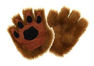Brown Dog Cat Bear Fingerless Costume Paws Para Adultos Por