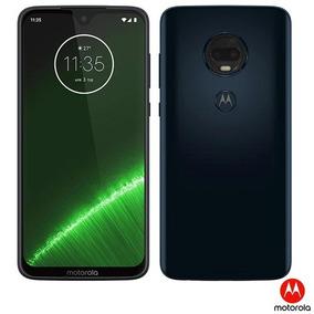 Moto G7 Plus Indigo Motorola 6,24 ,4g, 64gb, 16mp - Xt1965-2