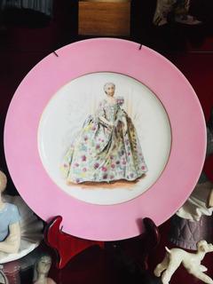 Porcelana Fina Plato Aleman Bavaria Doble Sello
