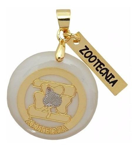 Colar Pingente Profissao Zootecnia Folheada Ouro 18k