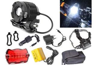 Farol Bike Profissional Lanterna Cabeça Led T6 Tatica 11000w