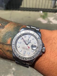 Reloj Rolex Yacht Master Platinium & Steel 40mm Caja Papeles