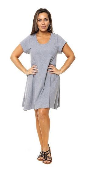 Vestido Corto Morley Mujer Talle Grande Gris Varios Colores