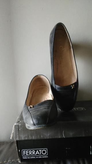 Zapatos Usados Mujer Tacon Ancho # 25 Dos Modelos