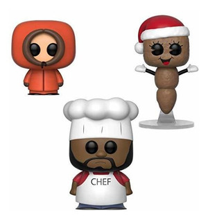 Funko Tv: Pop! South Park Colectores Set - Chef, Kenny, El S