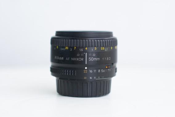 Lente Nikon 50mm F/1.8d Fx Af Original Nikkor