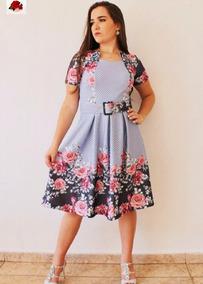 Vestido Boneca Moda Evangélica Midi Pregas Com Cinto