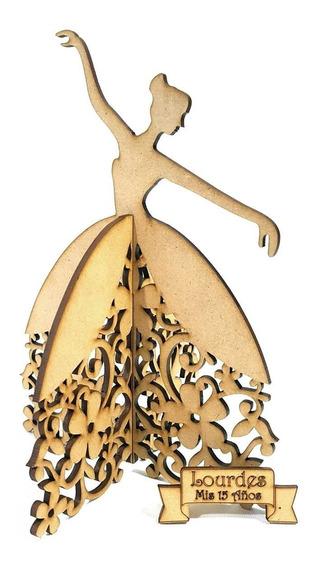10 Bailarinas 3d Souvenirs Fibrofacil 16cm 15 Años