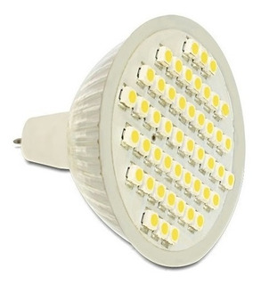 Dicroica Led Mr16 12 Volts 2,5 Watts Blanco Cálido 60 Led