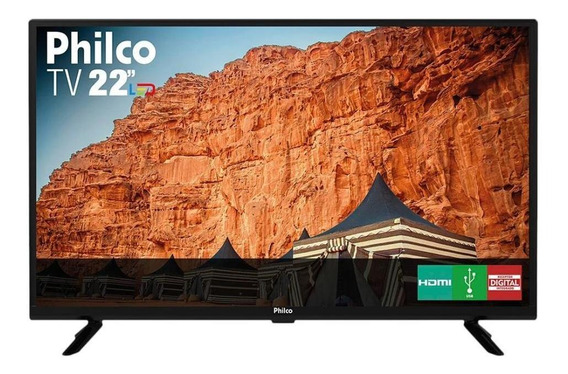 Tv Led 22 Polegadas Philco Ptv22g50d 2 Hdmi 1usb 60hz Preto