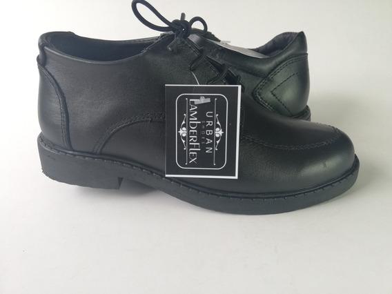 Zapatos Escolares Niño Zapatos 100% Cuero